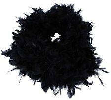 Plumas Negro Boa Fancy Dress Flapper burlesco Charleston 1920's Gallina Noches