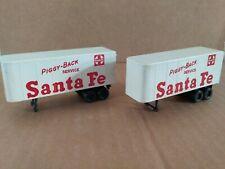Ho Scale Vintage Tyco Semi Trailers-Two Santa Fe Semi Trailers