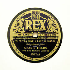"GRACIE FIELDS ""There's A Lovely Lake In London"" REX 8592 [78 RPM]"