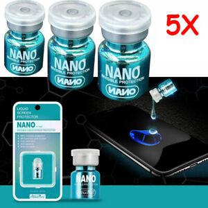 5Pcs NANO Liquid Glass Screen Protector Oleophobic Coating Film Universal