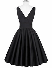 Women Retro 50s Wiggle Flared Dress Vintage Cocktail Evening Party Swing Dress