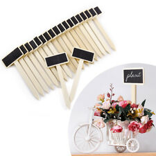 20 Mini Rectangle Chalkboard Single Sided Black Board for Message Board Sign Tag