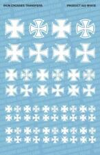 IRON CROSSES 023 WHITE DECAL TRANSFER SHEET WARGAMING FALLOUT HOBBIES PDT