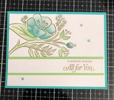 """Card Kit Set Of 4 Stampin Up """"All For You"""" Gold Embossed & Watercolored"""