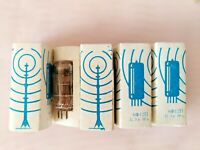 6F6C Pentode NEVZ RARE Tubes Matched pair 6F6S Fonon 6F6G Same date 70/'S!