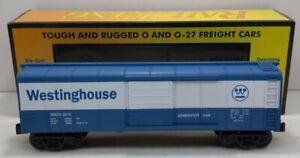MTH 30-74802 O Westinghouse Round Roof Boxcar w/Generator NIB