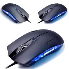 6D ptical 1600 DPI USB con filo per giochi gioco Mouse pc laptop nero