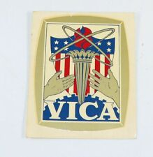 """Vintage Vica Vocational Industrial Club of America transfer decal 3.5"""" x 2.75"""""""