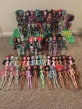 Huge Lot 65 Monster High Dolls, Clothing, Shoes, Pets, Accessories And Parts
