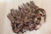 Mohair doll hair Hair locks for dolls Mohair wig (graphite)