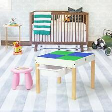 2 In 1 Double Sided Chalkboard Activity Play Table Chair Set W/ Storage Drawer