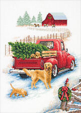 """Dimensions Counted Cross Stitch 10""""X14""""-Winter Ride (14 Count)"""