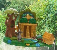 Vintage Polly Pocket Disney Jungle Book Play Set avec Hut et BALOO 1998