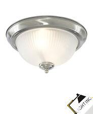 Plafonnier Geripptes Verre Dépoli Argent Salle de Bain Corridor Cuisine Lampe