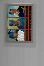 Lance Berkman Rookie, Topps 2000 #207, with Corey Patterson and Roosevelt Brown