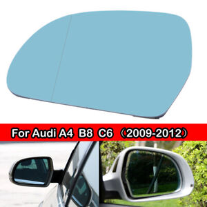 Left Side Blue Door Mirror Glass Heated  For AUDI A3 S3 A4 S4 A5 A6 A8 Q3 09-12