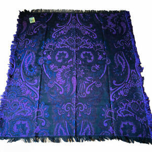 Ariana Eggplant Purple Persian Paisley Tapestry Afghan Throw