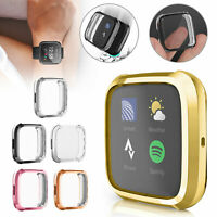 Bumper for Fitbit Versa 2 Screen Protectors Full Cover Plating TPU Watch Case