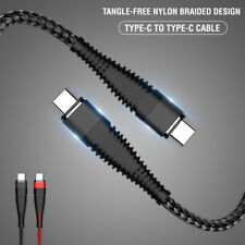 Type-C To Type-C 3A Fast Charging Cord Data Transfer Nylon Braided USB Cable