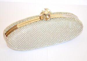 BOLSA plata pochette mujer strass cristales clutch bag cerimonia elegante 980