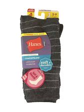 Hanes Women's 8-Pack 5-9 ComfortBlend Crew Socks Soft & Durable Gray