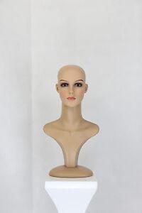 Perückenkopf Dekokopf Make Up Schaufensterpuppe Mannequin Torso Perücke Kopf T2