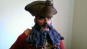 "Blackbeard the Pirate Edward Teach Sideshow Collectables 12"" Figure"