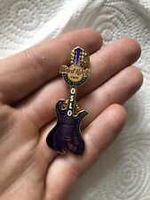 More details for oslo hard rock cafe pin grand opening purple guitar 2005 limited edition 400