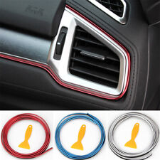 5M Line Car Interior Decor Red Point Edge Gap Door Panel Accessories Molding Us