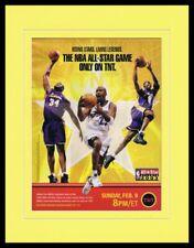 2003 NBA All Star Game Last Michael Jordan Framed 11x14 ORIGINAL Advertisement