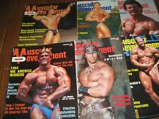 Lot Of 6 Muscular Development Bodybuilding Magazines/1984 COMPLETE YEAR