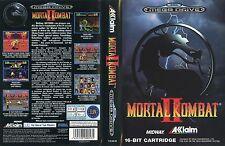 Mortal Kombat II 2 Sega Mega Drive PAL EU Replacement Box Art Case Insert Cover