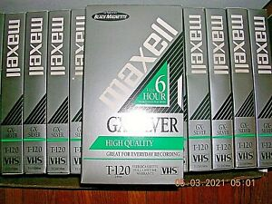 Lot Of 34 Maxell VHS GX-SILVER HIGH QUALITY Tapes T-160 Video 8 HR Sold As Blank