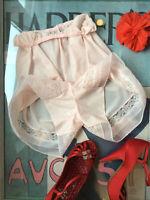 "Vintage 1950's pink nylon & lace tap panties pettipants - Tall Medium 38"" Hips"