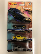 Street Tuners Real Riders Hot Wheels Set of 3 New FPY86