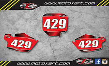 Custom number plates for Honda CR80 1996 - 2002 stickers decals graphics