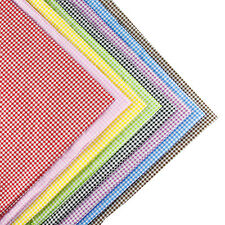 160x50cm Multicoloured checked cotton fabric patchwork quilt sewing DIY Cloth