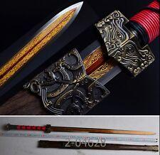 "High-Quality China Sword ""Han Jian""High Carbon Steel Katana Alloy Fittings#035"
