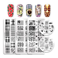 NICOLE DIARY Nail Stamping Plates Geometric Flower Lace  Image Templates
