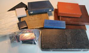 antike Schatullen Etui Besteckkästen Konvolut Lot Sammlung Besteck Kasten Orden
