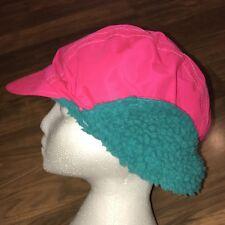 079e47062d0 Vtg 80s 90s Neon Pink COLUMBIA Apres Ski Beanie Cap Snow Hat Gaper Day  Large XL