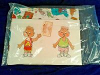 "Vintage Chipmunks Wrapping Paper Gift Wrap 6 sheets 24""X 30"" & 6 Tags Sealed!"