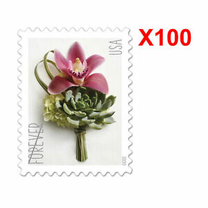 2020 USPS Forever US Postage Stamps 5 Panes 100 Pcs of Contemporary Boutonniere