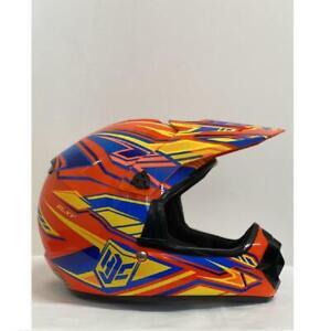 HJC CL-XY Fulcrum Motorcycle MX Motocross Kids Helmet Off Road Orange Youth S