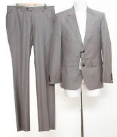 Herren Anzug Gr. 52 Slim Fit Wolle Sakko Hose Business Suit NEU