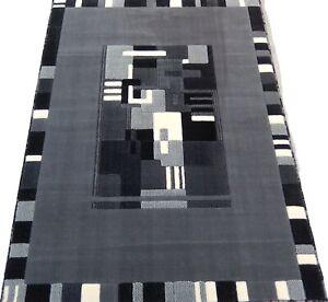 "4x6 Area Rug Grey Geometric Carpet Floor Covering Mat Home Decor (3'11"" x 5'2"")"