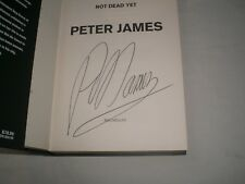 PETER JAMES - Not Dead Yet SIGNED + DATED 1/1 - 2012 - ROY GRACE book 8
