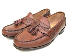 Allen Edmonds Maxfield Men's Woven Chili Leather Tassel Loafers Slip On US 9 (D)