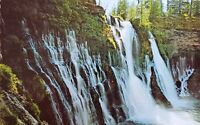 Vintage Postcard Burney Falls Northern California 1970s