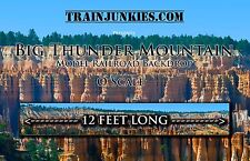 "TrainJunkies O Scale ""Big Thunder Mountain""  Model Railroad Backdrop 24x144"""